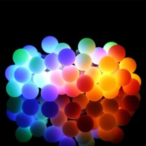 Cordão Fio De Luz Luminária 20 Bolas colorido 220V